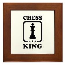 Chess king Framed Tile