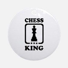 Chess king Ornament (Round)