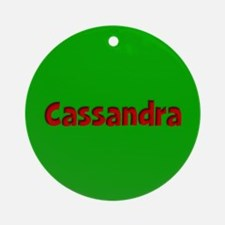 Cassandra Green and Red Ornament (Round)