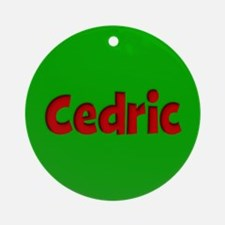 Cedric Green and Red Ornament (Round)