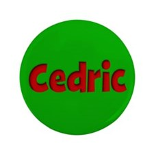 """Cedric Green and Red 3.5"""" Button"""