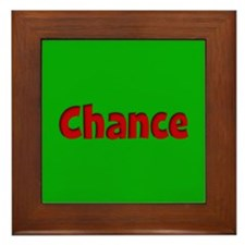 Chance Green and Red Framed Tile