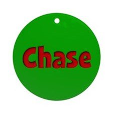 Chase Green and Red Ornament (Round)