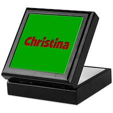 Christina Green and Red Keepsake Box