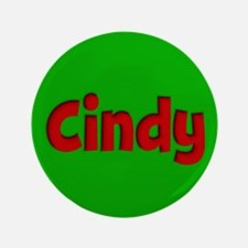 """Cindy Green and Red 3.5"""" Button"""
