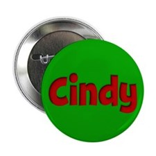 "Cindy Green and Red 2.25"" Button"