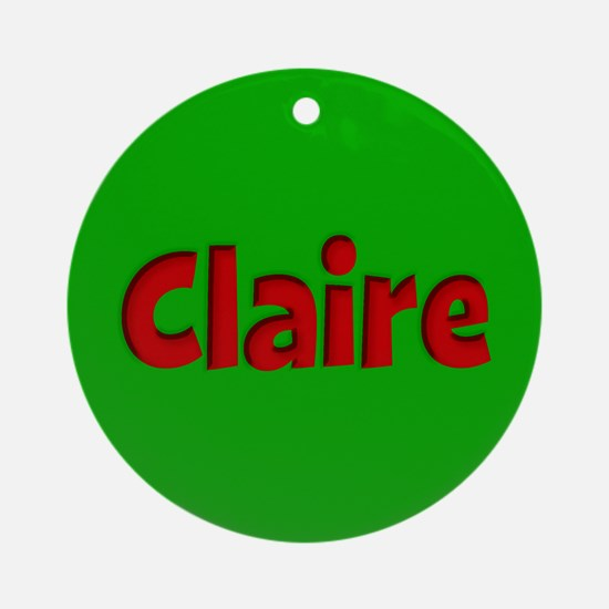 Claire Green and Red Ornament (Round)