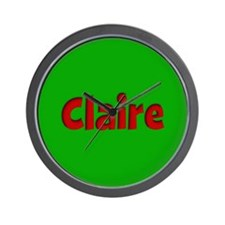 Claire Green and Red Wall Clock