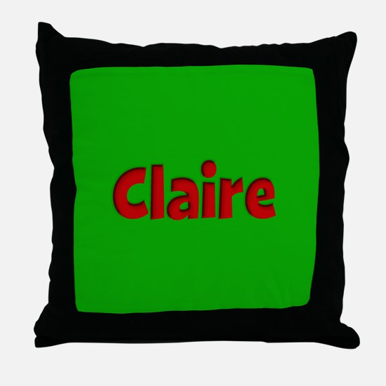 Claire Green and Red Throw Pillow