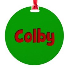 Colby Green and Red Ornament