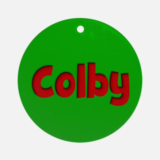 Colby Green and Red Ornament (Round)