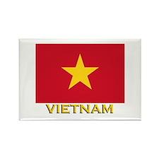 Vietnam Flag Stuff Rectangle Magnet