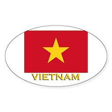 Vietnam Flag Stuff Oval Decal
