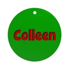 Colleen Green and Red Ornament (Round)