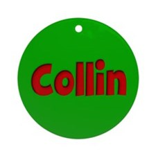 Collin Green and Red Ornament (Round)