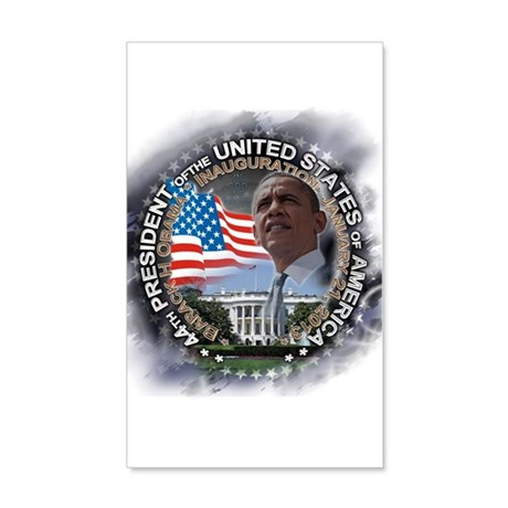 Obama Inauguration 01.21.13: 20x12 Wall Decal