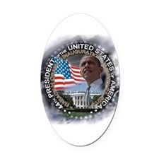 Obama Inauguration 01.21.13: Oval Car Magnet