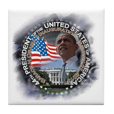 Obama Inauguration 01.21.13: Tile Coaster