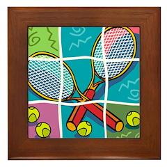 Tennis Fun Framed Tile