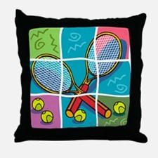 Tennis Fun Throw Pillow