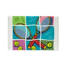 Tennis Fun Rectangle Magnet