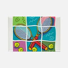 Tennis Fun Rectangle Magnet