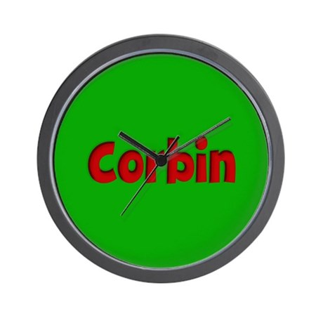 Corbin Green and Red Wall Clock