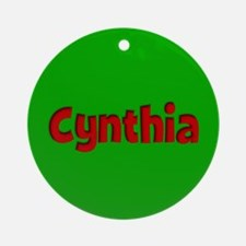 Cynthia Green and Red Ornament (Round)