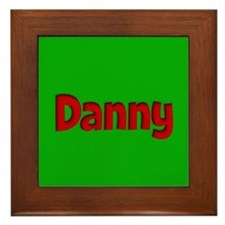 Danny Green and Red Framed Tile
