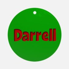 Darrell Green and Red Ornament (Round)