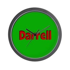 Darrell Green and Red Wall Clock