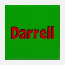Darrell Green and Red Tile Coaster