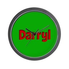 Darryl Green and Red Wall Clock