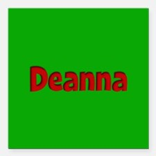 """Deanna Green and Red Square Car Magnet 3"""" x 3"""""""