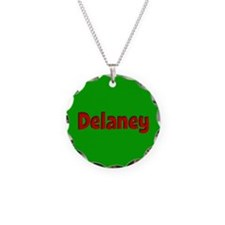 Delaney Green and Red Necklace
