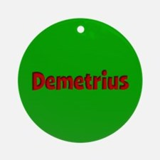Demetrius Green and Red Ornament (Round)
