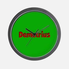 Demetrius Green and Red Wall Clock