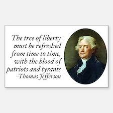 Thomas Jefferson Rectangle Decal