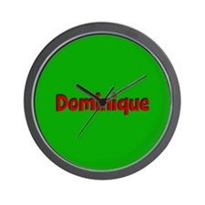 Dominique Green and Red Wall Clock