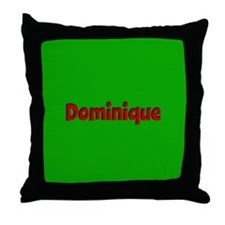 Dominique Green and Red Throw Pillow