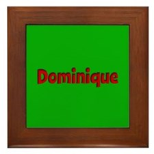 Dominique Green and Red Framed Tile