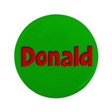 "Donald Green and Red 3.5"" Button"