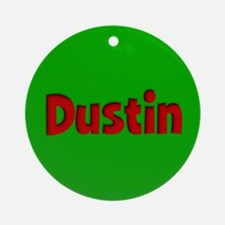 Dustin Green and Red Ornament (Round)