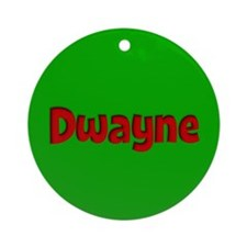 Dwayne Green and Red Ornament (Round)