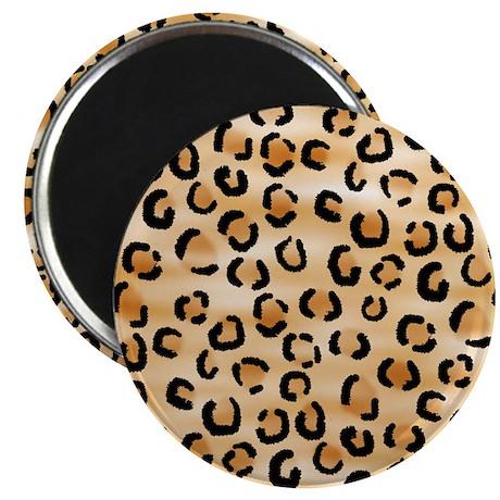 "Leopard Print Pattern. 2.25"" Magnet (100 pack)"