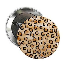 "Leopard Print Pattern. 2.25"" Button"