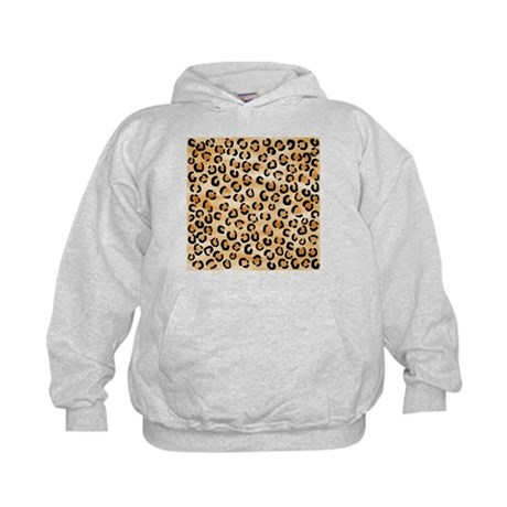 Leopard Print Pattern. Kids Hoodie