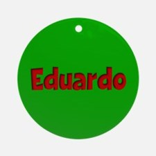Eduardo Green and Red Ornament (Round)