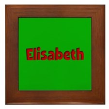 Elisabeth Green and Red Framed Tile