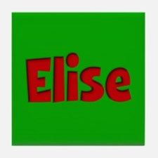 Elise Green and Red Tile Coaster